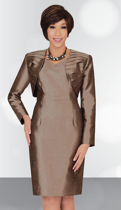 SA78443 - $129  #Pleated #Jacket #Dress #DarkBeige