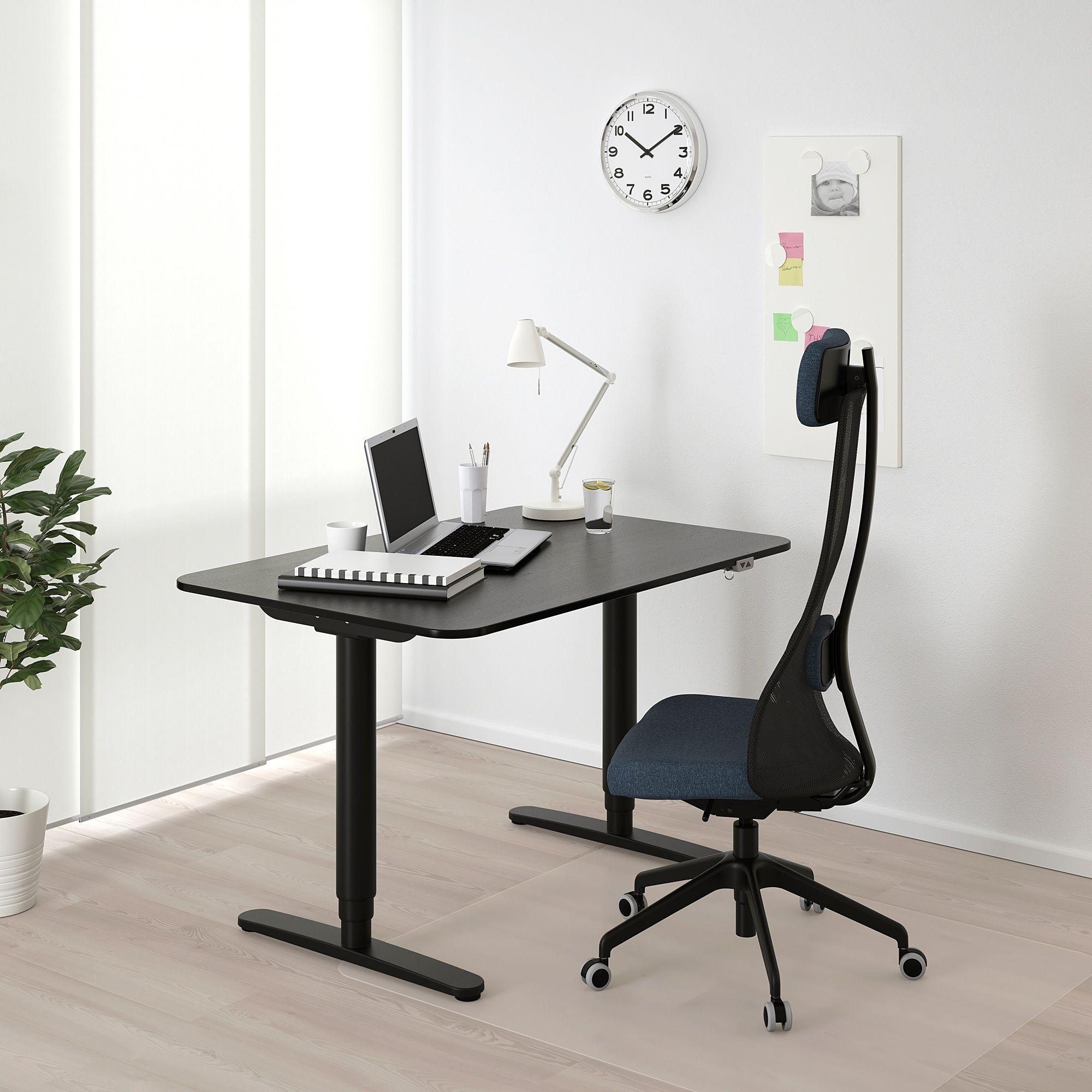 Bekant Desk Sit Stand Black Stained Ash Veneer Black 47 1 4x31 1 2 Ikea In 2020 Ikea Bekant Ikea Adjustable Height Desk