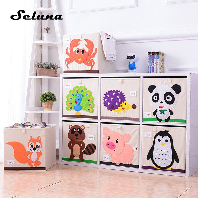 Seluna Cartoon Folding Storage Box Creative Children Toys Clothes Sundries Organizer Cute Animal Bin W Toy Storage Bins Clothes Storage Boxes Toy Storage Boxes