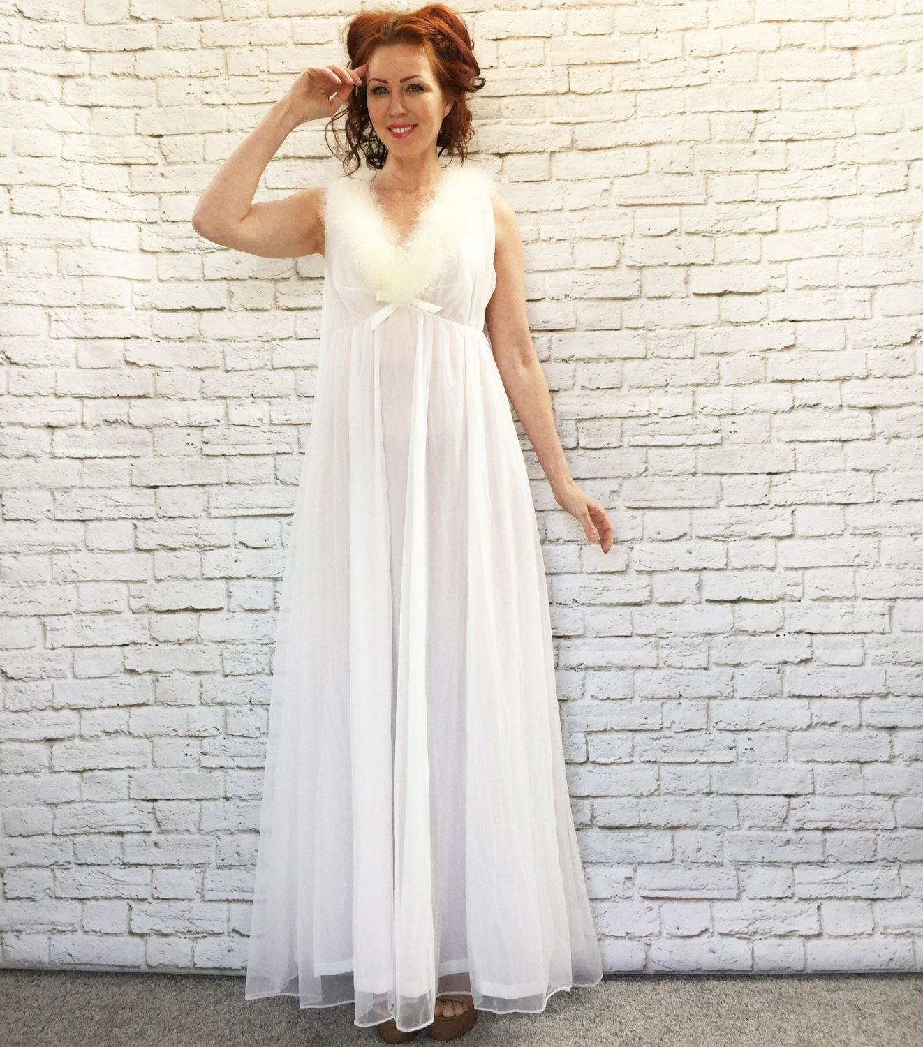 Empire Dress White Feather
