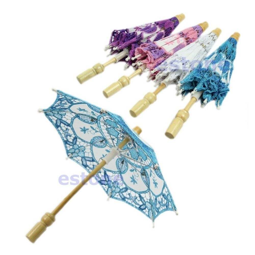 Pc new embroidered lace parasol umbrella for bridal wedding party