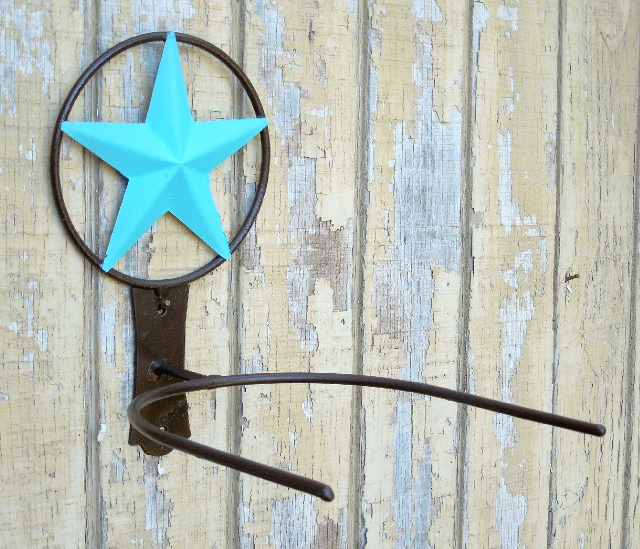 0c6830ef Country Western Ranch Single Texas Star Cowboy/Cowgirl Hat Rack Brown  Turquoise $27.95