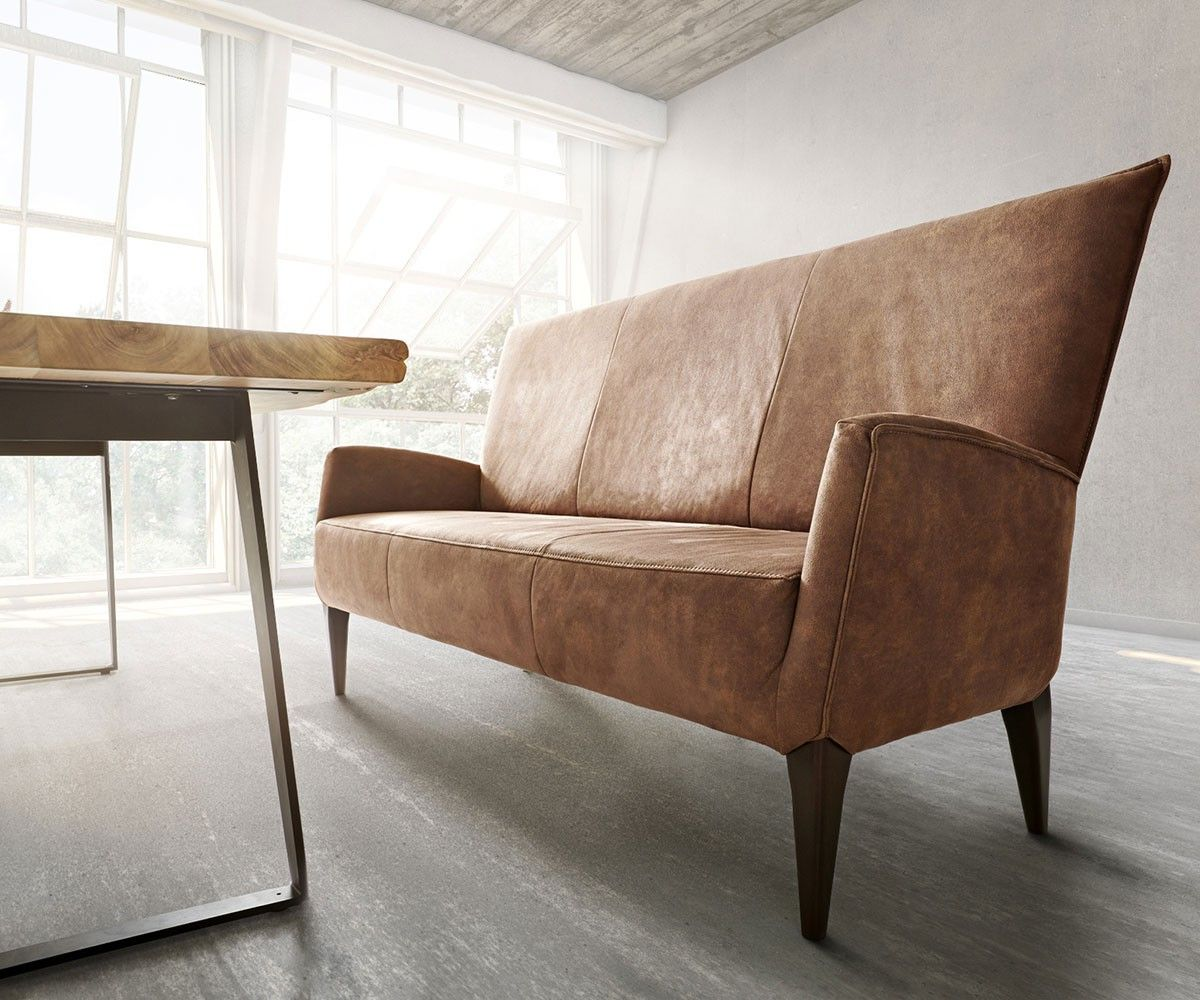 Sitzbank Bolero mit Rückenlehne 181x69 Braun by Ultsch Möbel Stühle Bänke