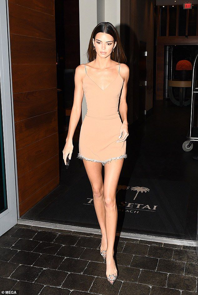 Kendall Jenner drops jaws in skimpy nude mini dress – Street Style