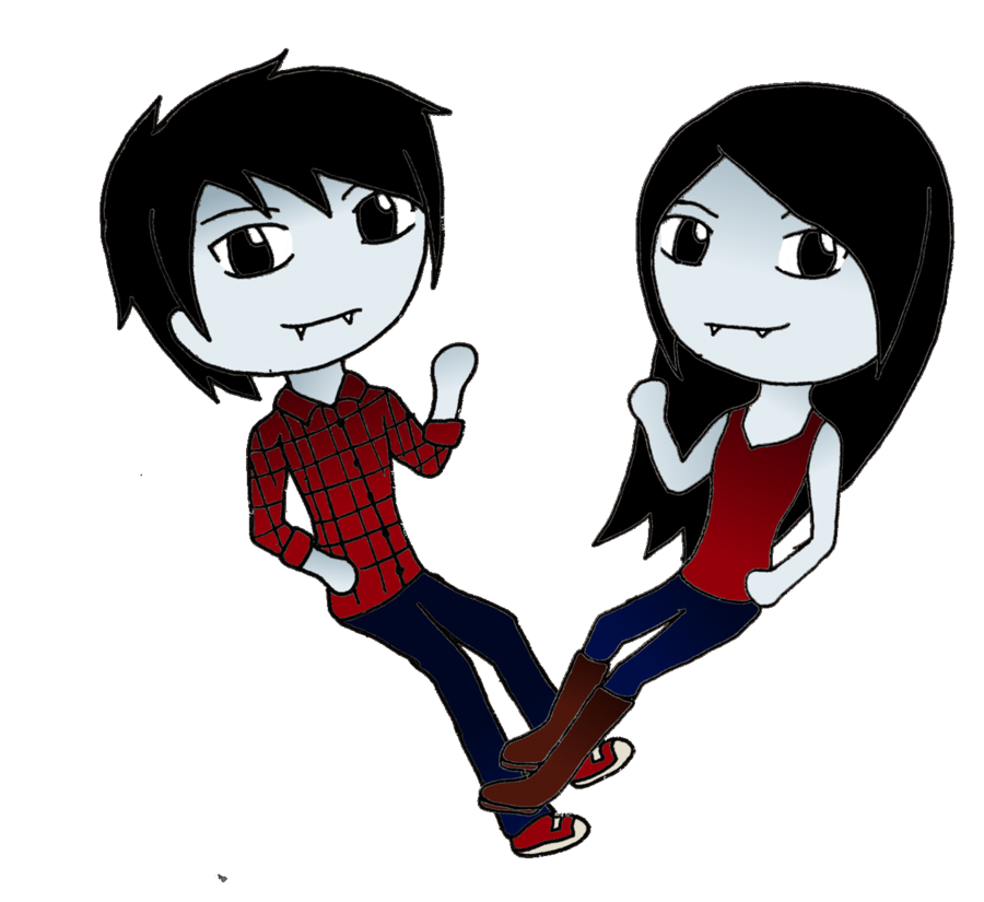 marshall lee | and Marceline chibis