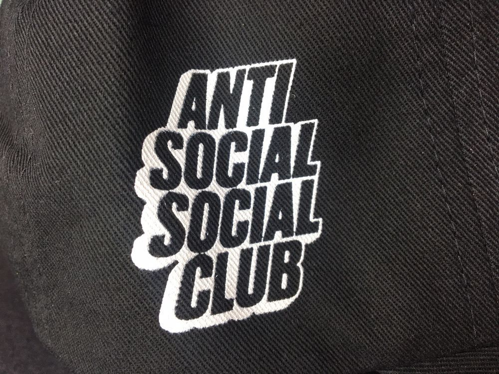 Anti Social Social Club Blocked Logo Hat ASSC Brand New One Size  fashion   clothing 2400373089b5