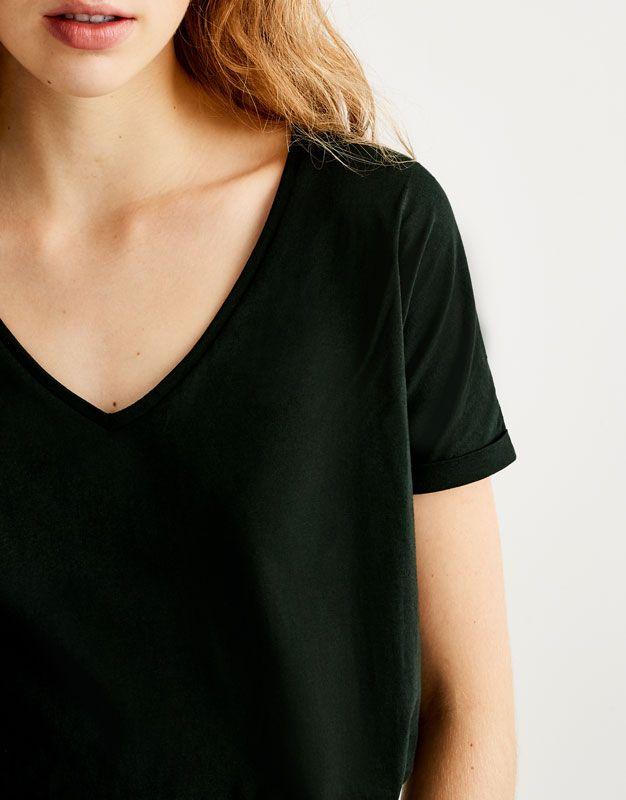 60% de liquidación distribuidor mayorista lista nueva Camiseta básica cuello pico - Básicas - Camisetas - Ropa ...