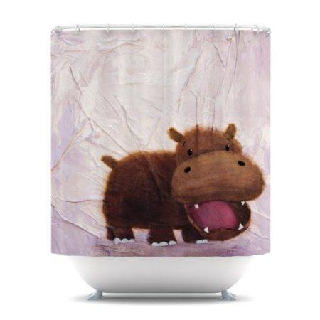 Amazon Com Kess Inhouse Rachel Kokko The Happy Hippo Shower
