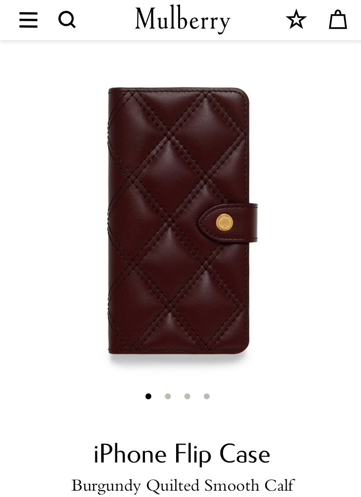 a44361bf173a Mulberry oxblood quilted iPhone case