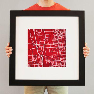 Ohio State University Campu Map Art City Print Wall Prints Dissertations
