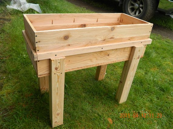 Small Stand Up Garden Box By Angeloswoodworking On Etsy