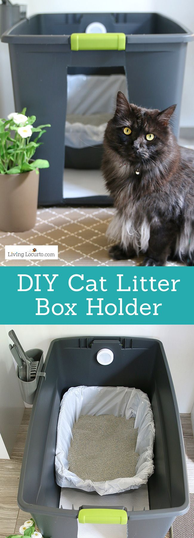 Easy Way To Hide Kitty Litter Living Locurto Recipes