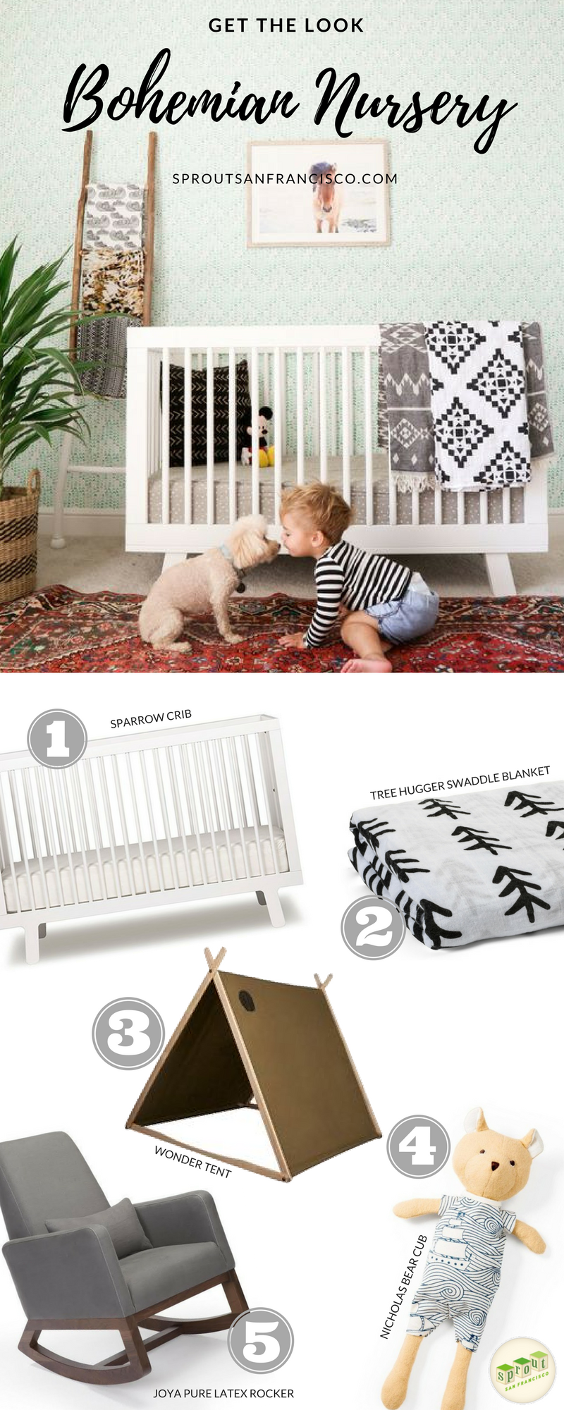 A Perfect Nursery Idea For An Organic Natural With Bohemian Flare Check Out Sprout Sf Your One Stop All Needs