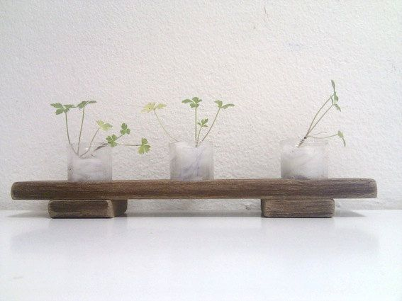 Gift Vase Planter  Wooden Stand with flower pots by Ayliss on Etsy, $20.00
