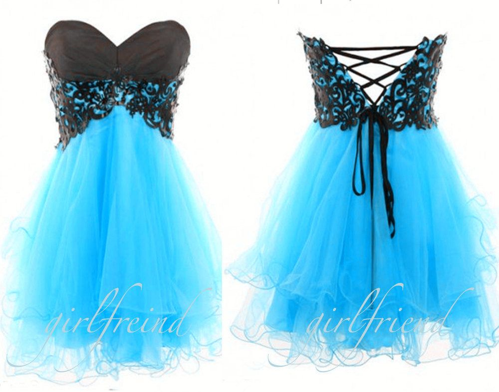 Cute strapless dress blue for dances   My Style. (:   Pinterest ...