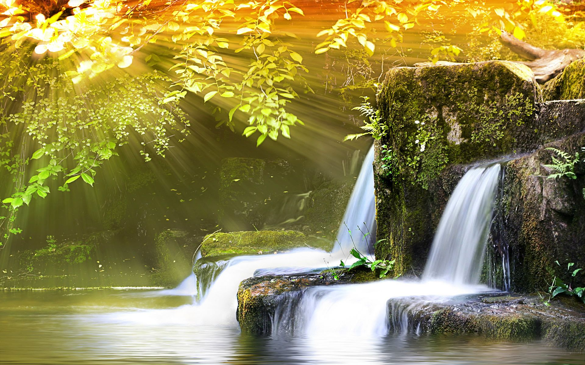 Find Out Beautiful Spring View Wallpaper On Http Hdpicorner Com Beautiful Spring View Waterfall Pictures Waterfall Wallpaper Beautiful Waterfalls