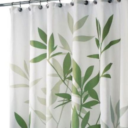 Interdesign Shower Curtain Leaves Shower Curtains Fabfurnish