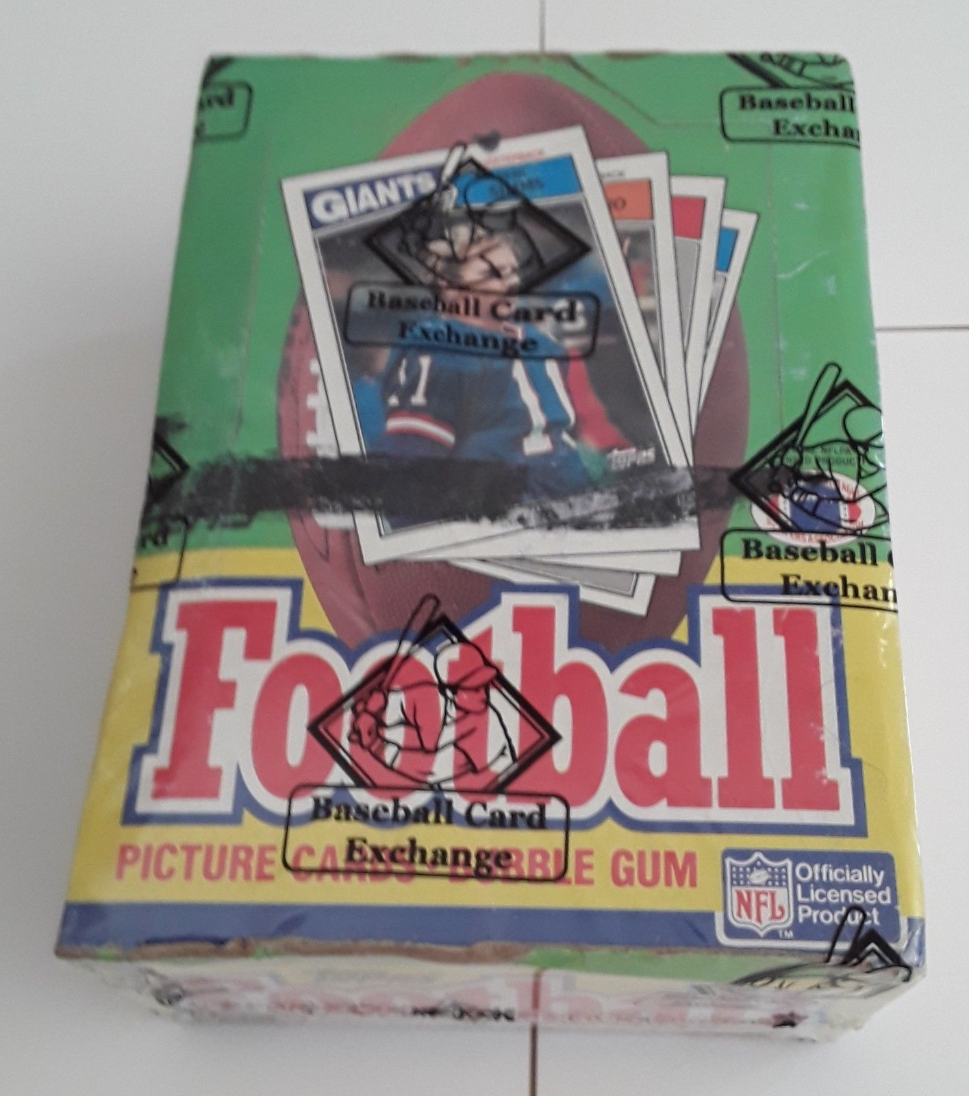 1987 topps football wax box bbce authenticated and sealed