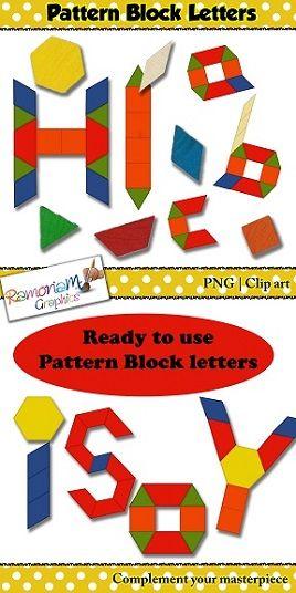 Pattern Block Letters Clip Art  Lower Case Letters Pattern