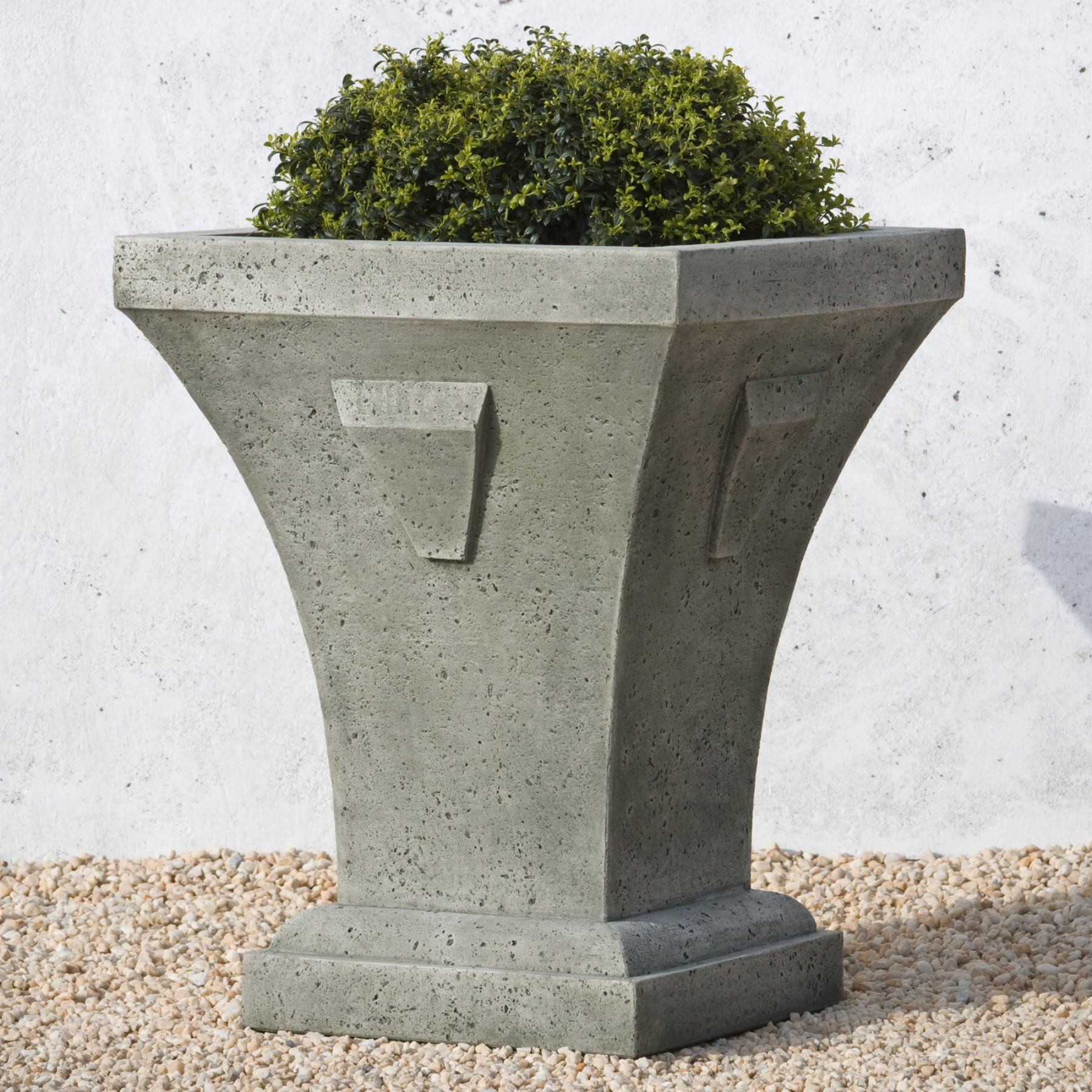 Campania International Lakeshore Tall Square Cast Stone Planter