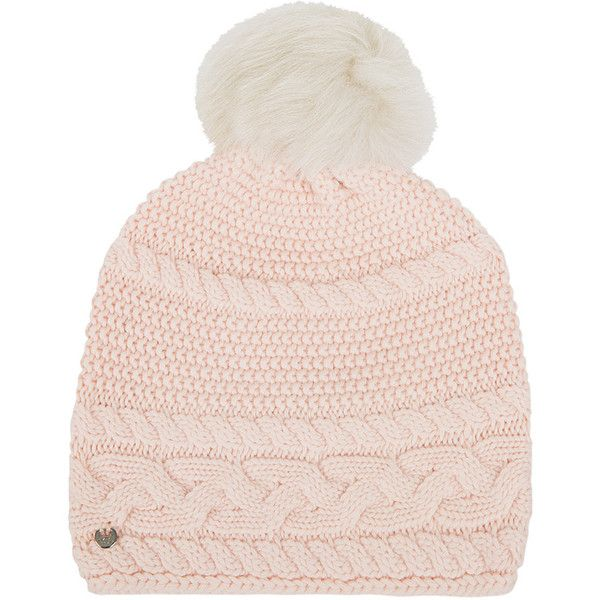 UGG® Women s Cable Beanie with Oversized Pom - Freshwater Pearl ( 62) ❤  liked on Polyvore featuring accessories 1f2156e9d