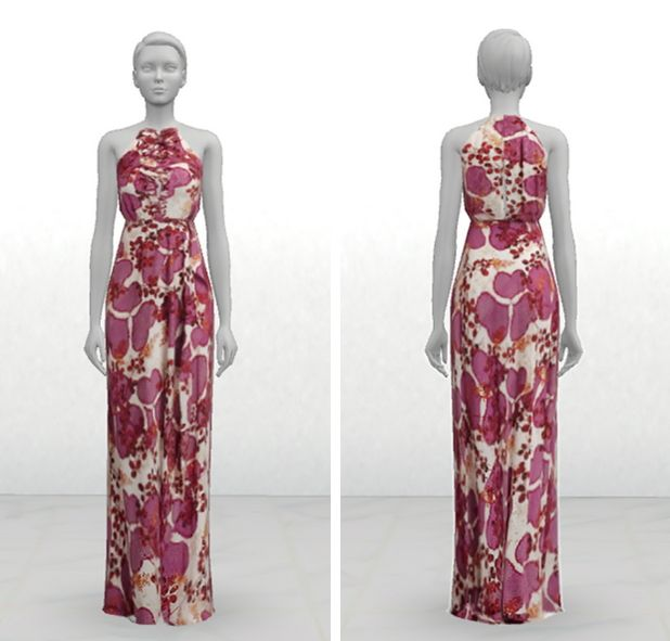 DvF Gown at GreenApple18r via Sims 4 Updates | Sims | Pinterest | Sims