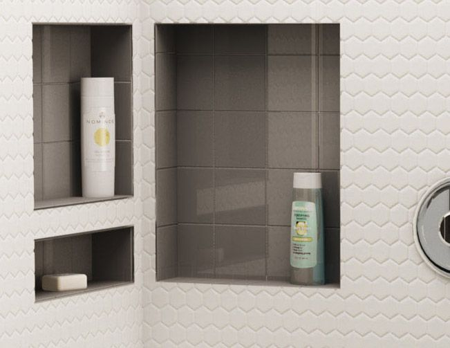 sketch of 60 fascinating shower shelves for better storage settings