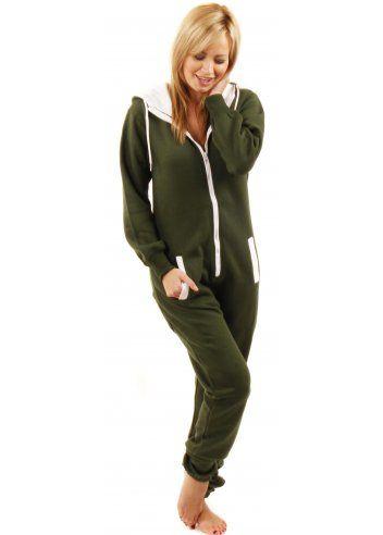 764c6b5ef5 Designer Desirables Khaki Green Soft Fleece Unisex Onesie