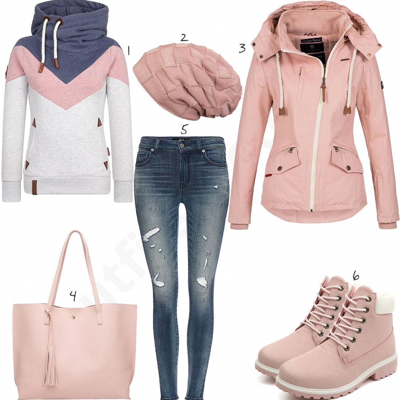 Rosa Naketano Damen Outfit Komplettes Winter Outfit