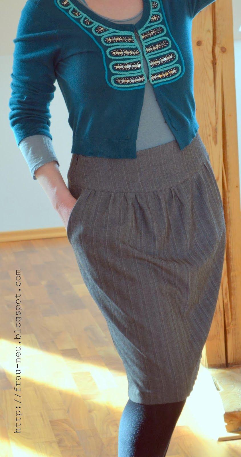 Frau Neu näht: Knipmode 3-10-2012 Rock in Tulpenform mit Taschen ...