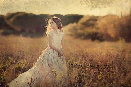 Girls Dress flower girl princess ruffles fabric by vintageprecious
