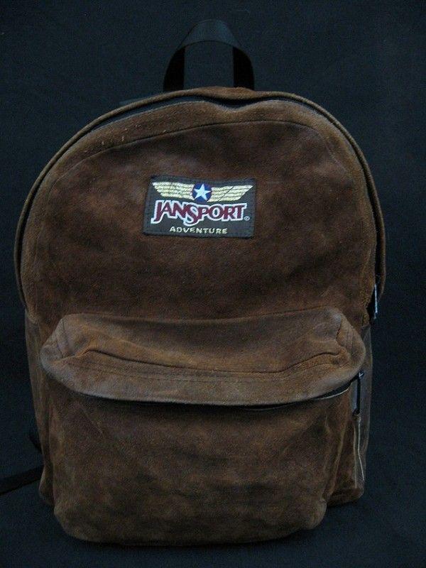 VINTAGE JANSPORT ADVENTURE ALL LEATHER HIKING CAMPING DAY PACK BACKPACK BAG    eBay 4220dfaf2a