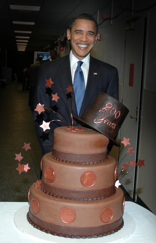 Pleasing President Barack Obama With An Elis Cheesecake For Abraham Funny Birthday Cards Online Inifodamsfinfo