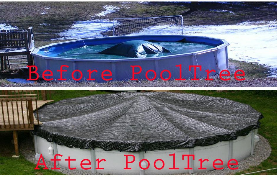 Before and after eliminates need to pump water and scoop