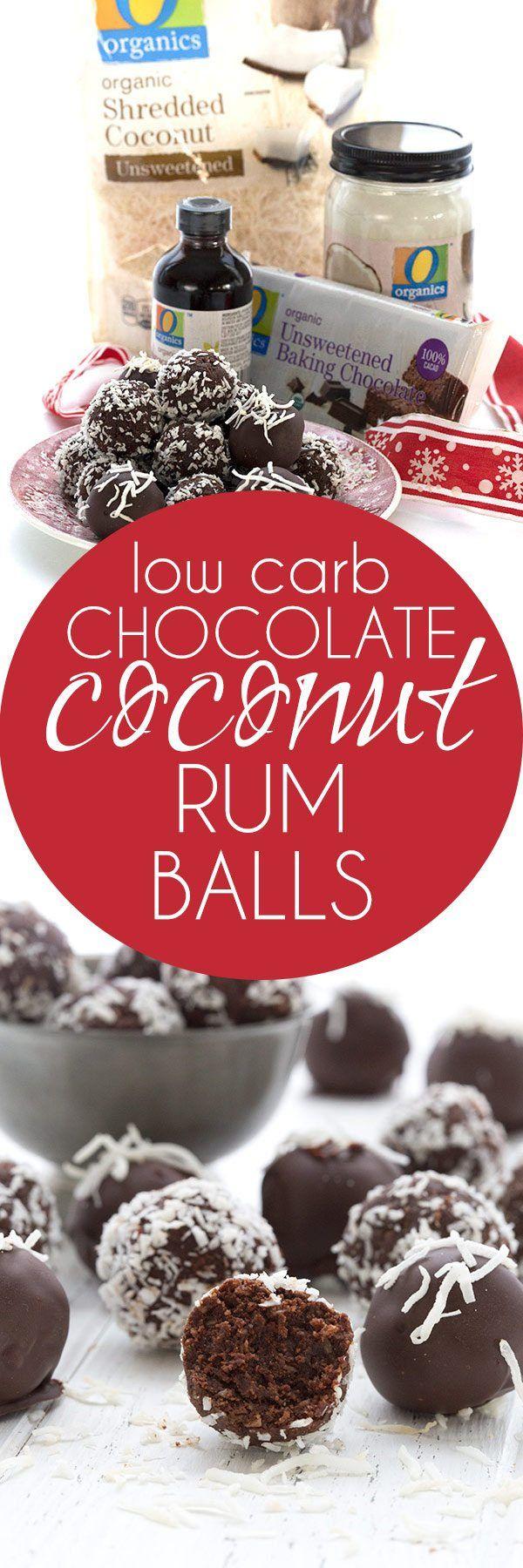 Easy low carb and dairy-free Chocolate Rum Balls. A perfect keto holiday treat! #lowcarb #keto #dairyfree #sugarfree #holidays via @dreamaboutfood