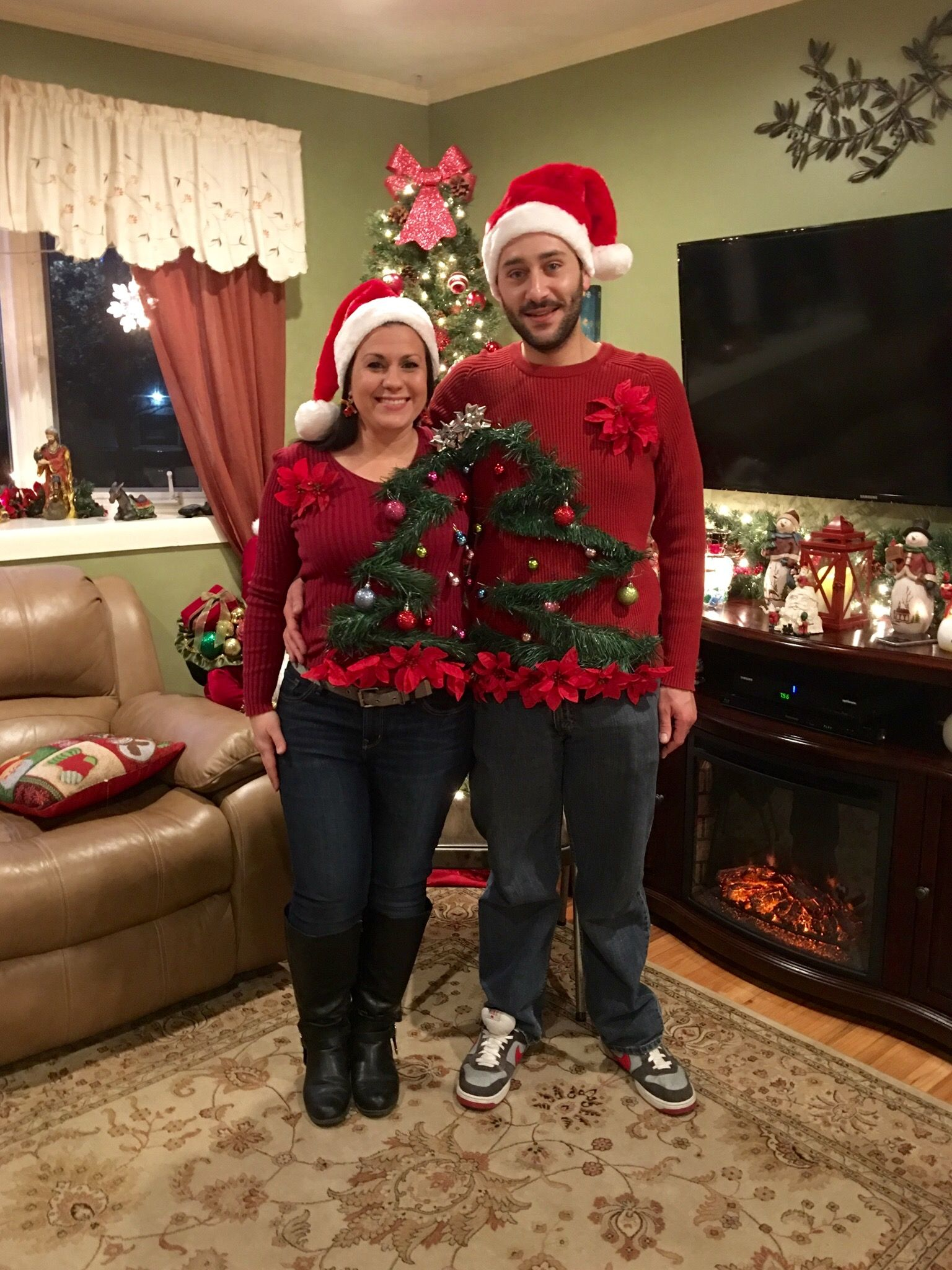 Homemade Couples Ugly Christmas Sweater Idea For Under 10