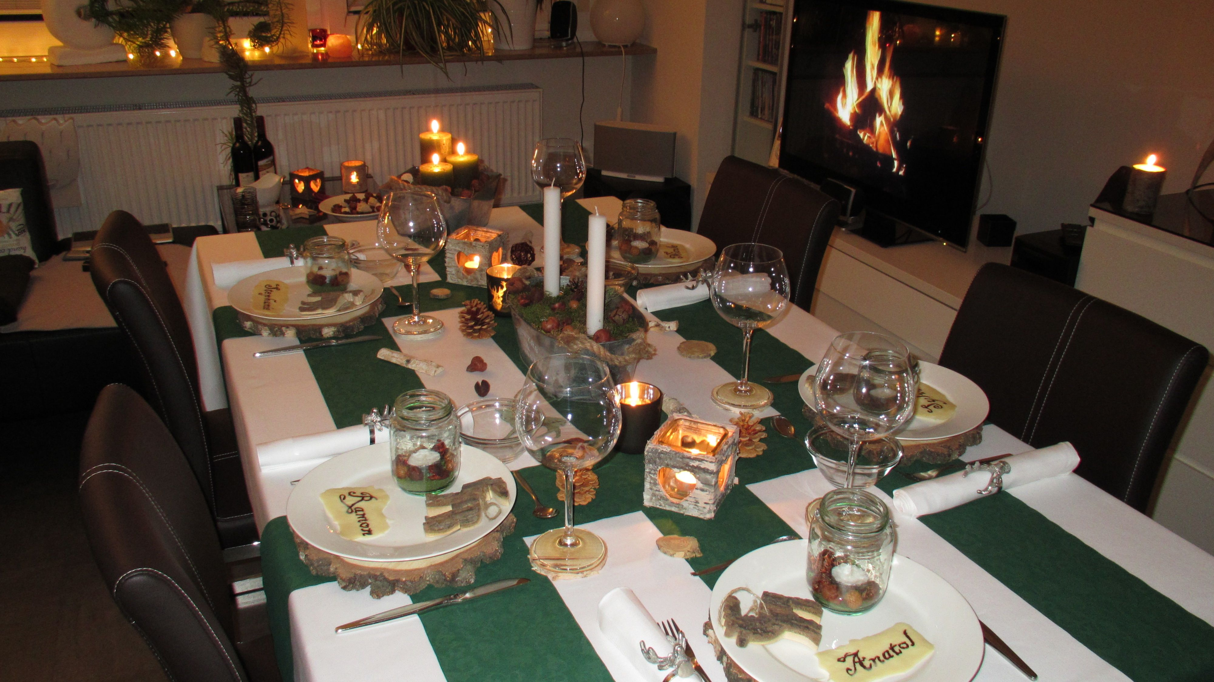 Wohnzimmertisch deko ~ Tisch dekoration table decoration gänseessen tischdeko