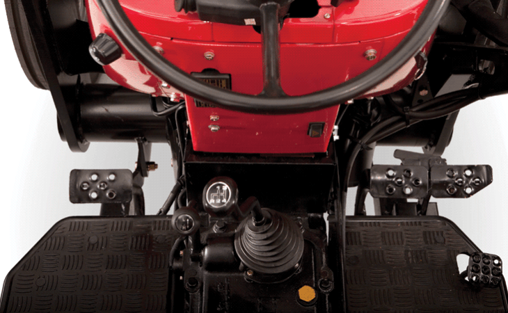 The Mahindra 4565 is full sized tractor with a solid steel