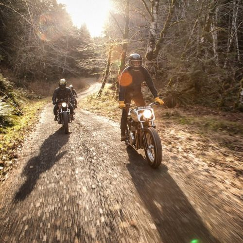 caferacersofinstagram: Heading into the forest with @croig.co ...  caferacersofinstagram:  Heading into the forest with @croig.co  @nostalgia_memoir. Searching for #campvibes.  CROIG Takeover with @british_customs with @thedeuk behind the lens. Fantastic shot buddy!  #BCbuilt #newheritage #croig #raen #campvibes #croigtakeover #caferacersofinstagram (at CROIG Takeover: British Customs Part II)