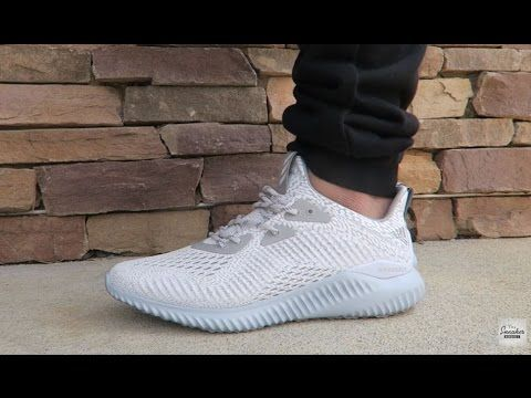 45b588e6c4aa8 adidas ALPHABounce White Onix AMS Sneaker Review On Feet
