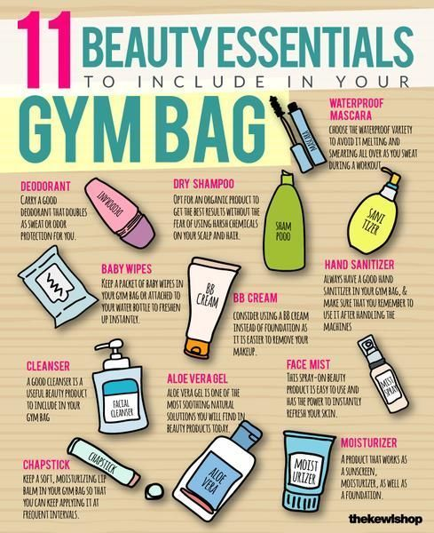 We've compiled a quick list of the top beauty essentials you need in your gym bag alongside your fav...