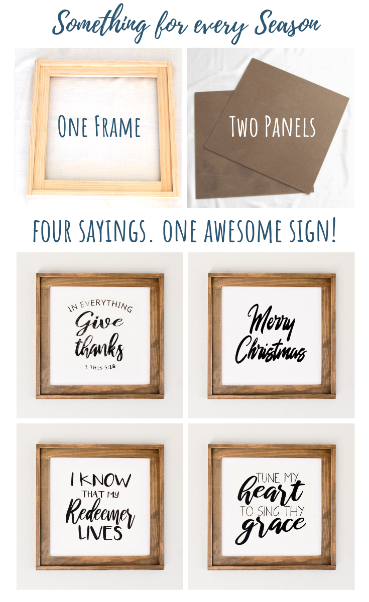 Photo of Simple DIY Wood Sign: four signs in one!