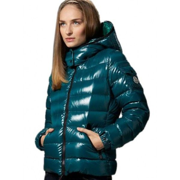 Moncler Womens Bicolor Puffer Down Jacket Green [2899955 ...