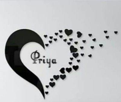 Pin By Priyanka On Priya Cute Love Images Name Wallpaper Tattoo Name Fonts