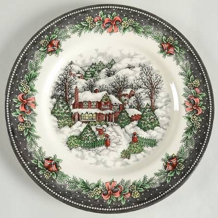 Christmas Village By Royal Stafford Christmas Tableware Christmas Dinnerware Christmas Dishes