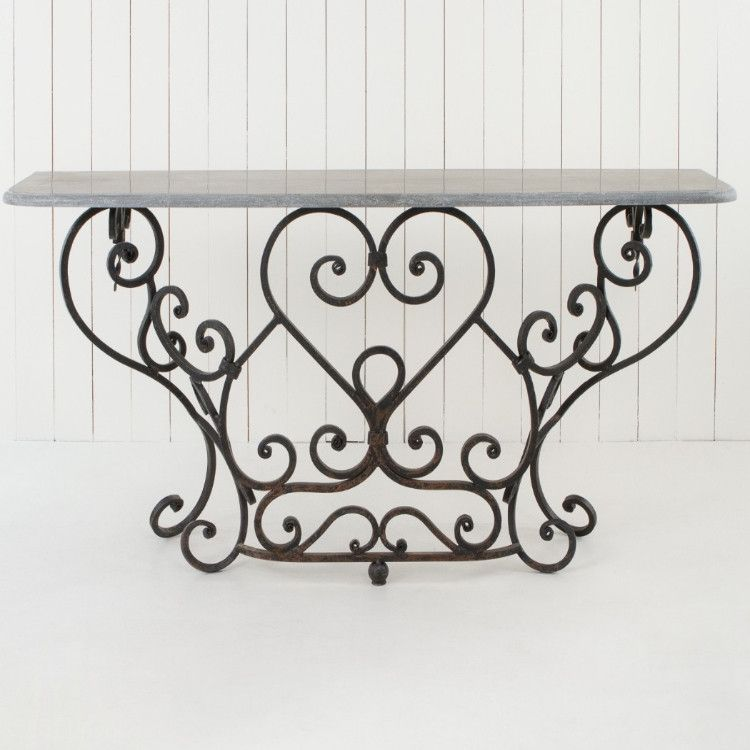 Wrought Iron Console Table Allissias Attic Vintage French Style