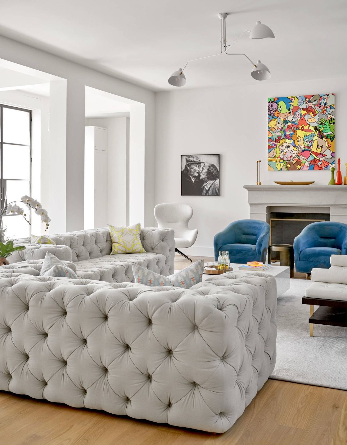 Restoration Hardware Soho Sofa Room Transitional Living Rooms