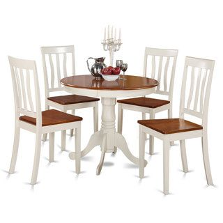 Buttermilk And Cherry Kitchen Table And Four Kitchen Chair 5 Piece Dining  Set   Free
