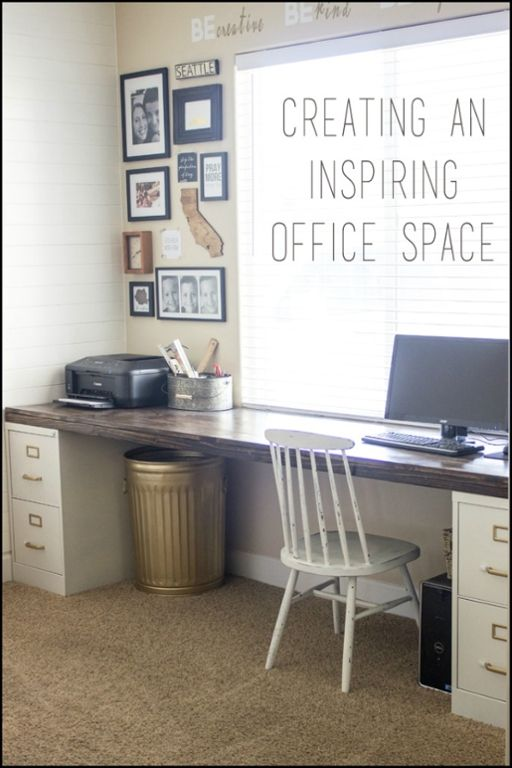 Easy To Build Large Desk Ideas For Your Home Office The Home Office Organize Office Space Diy File Cabinet Home Office Decor