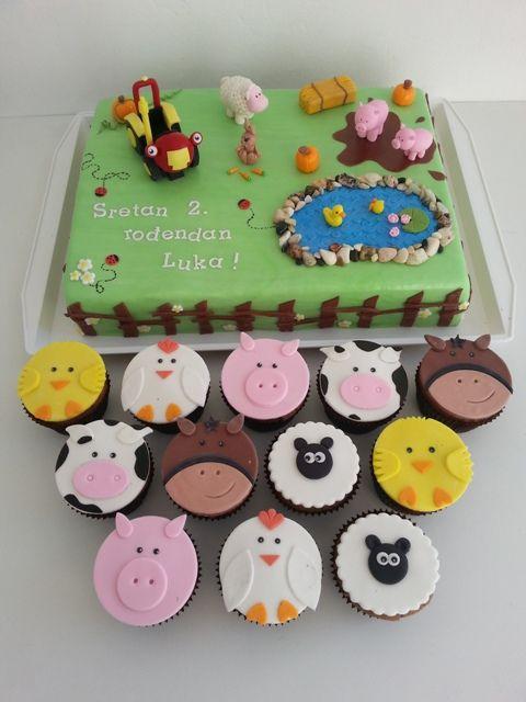 Traktor Tom Torta I Muffini Traktor Kuchen Kuchen Kindergeburtstag Kinder Kuchen